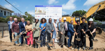 Groundbreaking for the Gramercy Place Apartments