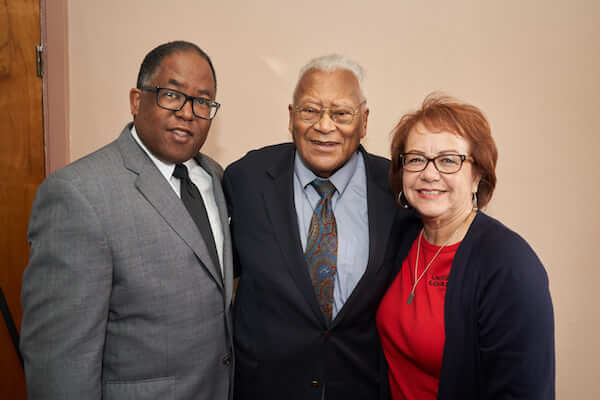 MRT, Rev. James M. Lawson, Jr. and State Senator Maria Elena Durazo in Memphis, Tennessee for the 50th anniversary of Dr. Martin Luther King Jr.'s assassination.